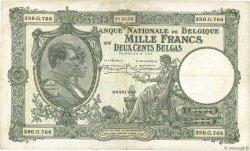 1000 Francs - 200 Belgas BELGIQUE  1933 P.104 TB+