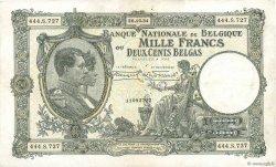 1000 Francs - 200 Belgas BELGIQUE  1934 P.104 TTB