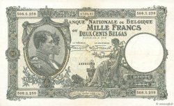 1000 Francs - 200 Belgas BELGIQUE  1935 P.104 TTB+