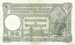 1000 Francs - 200 Belgas BELGIQUE  1935 P.104 TTB