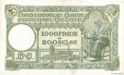 1000 Francs - 200 Belgas BELGIQUE  1939 P.104 TTB+