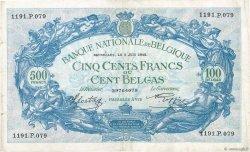 500 Francs - 100 Belgas BELGIQUE  1942 P.109 TB+