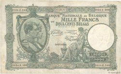 1000 Francs - 200 Belgas BELGIQUE  1943 P.110 TTB