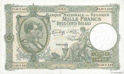 1000 Francs - 200 Belgas BELGIQUE  1943 P.110 SPL