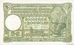 1000 Francs - 200 Belgas BELGIQUE  1943 P.110 SUP