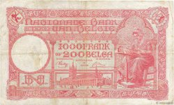 1000 Francs - 200 Belgas BELGIQUE  1944 P.115 TB