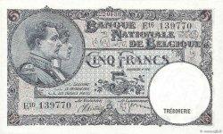 5 Francs BELGIQUE  1938 P.108a NEUF