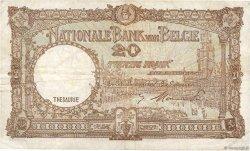 20 Francs BELGIQUE  1948 P.116 TB