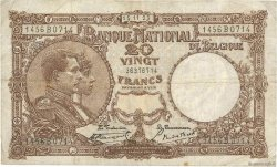 20 Francs BELGIQUE  1923 P.094 TB