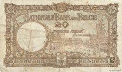 20 Francs BELGIQUE  1924 P.094 TB