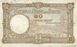 20 Francs BELGIQUE  1929 P.098b TB