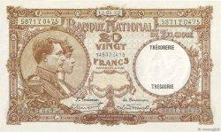 20 Francs BELGIQUE  1930 P.098b pr.SUP