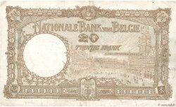 20 Francs BELGIQUE  1931 P.098b pr.TTB