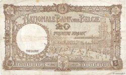 20 Francs BELGIQUE  1940 P.111 TB