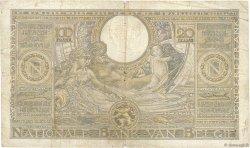 100 Francs - 20 Belgas BELGIQUE  1933 P.107 B