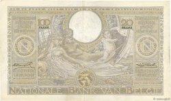 100 Francs - 20 Belgas BELGIQUE  1933 P.107 TTB