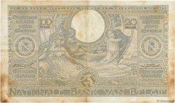 100 Francs - 20 Belgas BELGIQUE  1934 P.107 TB