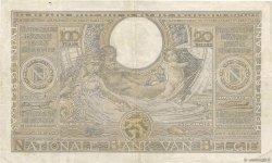 100 Francs - 20 Belgas BELGIQUE  1935 P.107 TTB