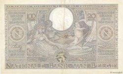 100 Francs - 20 Belgas BELGIQUE  1936 P.107 TTB