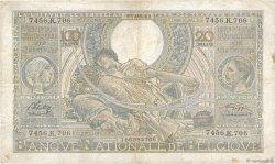 100 Francs - 20 Belgas BELGIQUE  1941 P.107 TTB