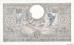 100 Francs - 20 Belgas BELGIQUE  1943 P.107 pr.NEUF