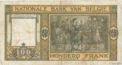 100 Francs BELGIQUE  1945 P.126 TB