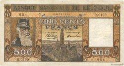 500 Francs BELGIQUE  1944 P.127a B