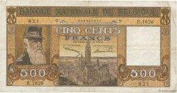 500 Francs BELGIQUE  1947 P.127b TB+