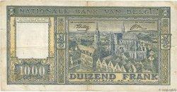 1000 Francs BELGIQUE  1944 P.128a B+