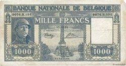 1000 Francs BELGIQUE  1944 P.128a TB