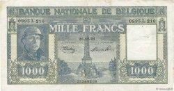 1000 Francs BELGIQUE  1944 P.128b TB