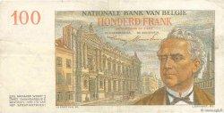 100 Francs BELGIQUE  1952 P.129a TTB