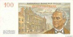 100 Francs BELGIQUE  1952 P.129a SPL