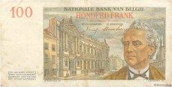100 Francs BELGIQUE  1953 P.129b TTB