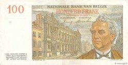100 Francs BELGIQUE  1953 P.129b TTB+