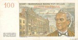 100 Francs BELGIQUE  1953 P.129b SUP