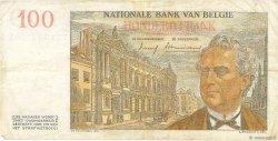 100 Francs BELGIQUE  1957 P.129c TTB