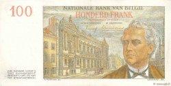 100 Francs BELGIQUE  1957 P.129c SUP