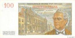 100 Francs BELGIQUE  1957 P.129c SPL