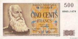 500 Francs BELGIQUE  1952 P.130 SUP