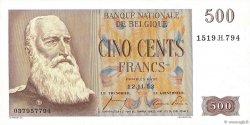 500 Francs BELGIQUE  1953 P.130 SPL
