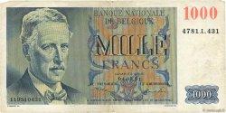 1000 Francs BELGIQUE  1950 P.131 TB
