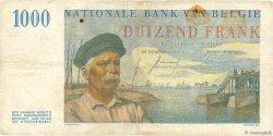 1000 Francs BELGIQUE  1957 P.131 TB