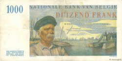 1000 Francs BELGIQUE  1957 P.131 TTB