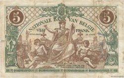 5 Francs BELGIQUE  1914 P.075a TB+