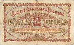 2 Francs BELGIQUE  1918 P.087 pr.TB