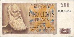 500 Francs BELGIQUE  1958 P.130 pr.TTB