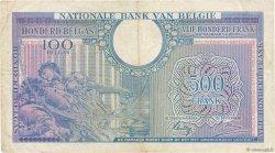 500 Francs - 100 Belgas BELGIQUE  1943 P.124 TB