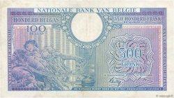 500 Francs - 100 Belgas BELGIQUE  1943 P.124 TTB