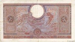 1000 Francs - 200 Belgas BELGIQUE  1943 P.125 TTB
